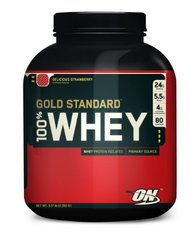 Optimum Nutrition- 100% Whey Protein, Delicious Strawberry, 5lbs