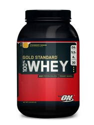 Optimum Nutrition- 100% Whey Protein, Strawberry-Banana, 2lbs
