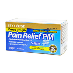 Good Sense- Acetaminophen PM, 50 Caplets
