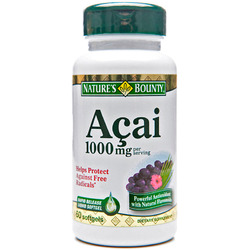 Nature's Bounty- Acai, 1000mg, 60 softgels