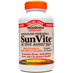 Sundown Naturals- Active Adult Multivitamin, 200 tablets
