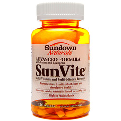 Sundown Naturals- Advanced SunVite, 130 tablets