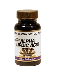 Windmill- Alpha Lipoic Acid, 300mg, 30 Tablets