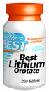 Best Lithium Orotate, 5mg, 200 tablets