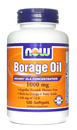 Now Foods- Borage Oil, 1000mg, 120 softgels