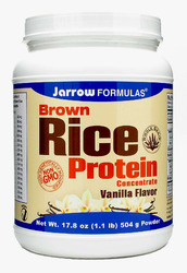 Jarrow Formulas- Brown Rice Protein 70%, Vanilla, 1.1lbs