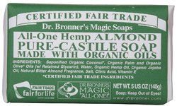 Dr Bronner's- Bar Soap, Almond, 5oz