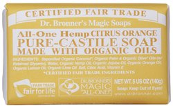 Dr Bronner's- Bar Soap, Citrus Orange, 5oz