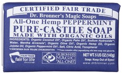 Dr Bronner's- Bar Soap, Peppermint, 5oz