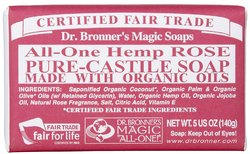 Dr Bronner's- Bar Soap, Rose, 5oz
