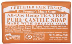 Dr Bronner's- Bar Soap, Tea Tree, 5oz