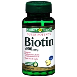Nature's Bounty- Biotin, 5000 mcg, 60 softgels