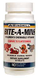 Windmill- Bite-A-Mins Childrens, 90 Chews