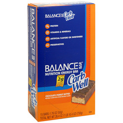 Balance Bar CarbWell- Chocolate Peanut Butter (15 pack)