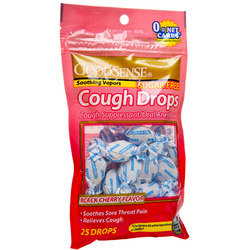 Good Sense- Cough Drops, Black Cherry Sugar Free, 25 Lozenges