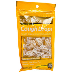 Good Sense- Cough Drops, Honey Lemon, 30 Lozenges