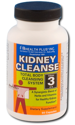 Health Plus- Colon Cleanse, Kidney Cleanse, 90 capsules