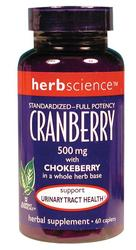Herbscience- Cranberry, 500mg, 60 Tablets