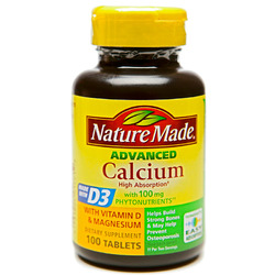 Nature Made- Calcium 500mg + Vitamin D, 130 Tablets