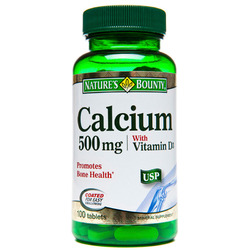 Nature's Bounty- Calcium 500mg and Vitamin D, 100 tablets