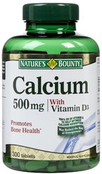 Nature's Bounty- Calcium 500mg and Vitamin D, 300 tablets