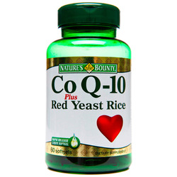 Nature's Bounty- Co Q-10 with Red Yeast Rice, 60 softgels