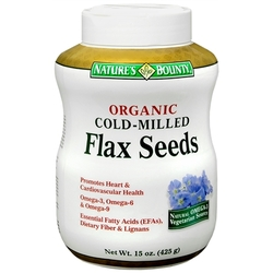 Nature's Bounty- Cold Milled Organic Flax, 15mg, 15oz