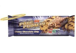 Pure Protein- Chewy Chocolate Chip Bar, (12 pack)