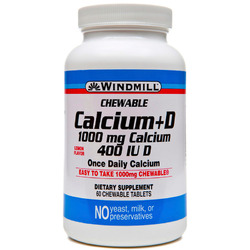 Windmill- Calcium + Vitamin D 1000mg/400IU, 60 Tablets