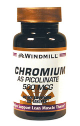 Windmill- Chromium Picolinate, 500mcg, 60 Tablets