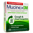 DM, Max Strength Expectorant/Cough Suppressant, 1200mg/60mg, 14 Tablets