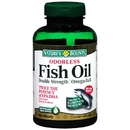 Double Strength Odorless Fish Oil, 1200mg, 90 softgels