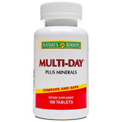 Sundown Naturals- Daily Multi-vitamin & Minerals, 100 tablets