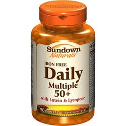 Sundown Naturals- Daily Multiple 50+ Iron Free with Lutein & Lycopene, 90 caplets