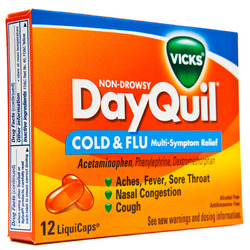 Vicks- Dayquil, No PSE, 12 liquicaps