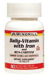 Windmill- Daily Vitamin with Iron, 100 Tablets