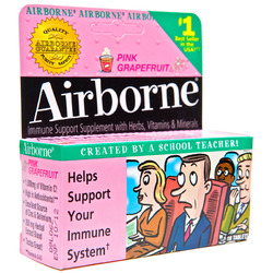 Airborne- Effervescent, Pink Grapefruit, 10 tablets