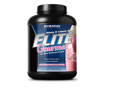 Dymatize- Elite Gourmet, Strawberries & Cream, 5lbs