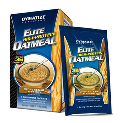 Dymatize- Elite, High Protein Oatmeal, Brown Sugar Cinnamon, 7 servings