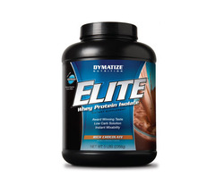 Dymatize- Elite Whey Protein, Rich Chocolate, 5lbs