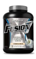 Dymatize- Elite Fusion, Cookies & Cream, 5.15lbs