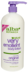 Alba Botanica- Emollient Body Lotion, Unsceneted, 32oz