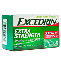 Excedrin- Extra Strength Express Pain Reliever, 20 gelcaps