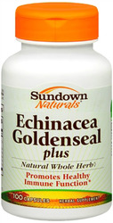 Sundown Naturals- Echinacea/Goldenseal Plus, 100 capsules
