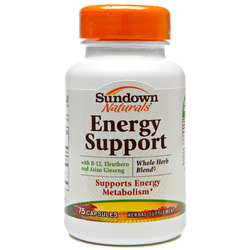 Sundown Naturals- Energy Support (formerly Energy Blend), 75 capsules