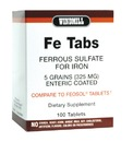 Fe Gluconate 5 Grains, 325mg, 100 Tablets