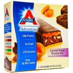 Atkins Advantage Caramel Bar- Fudge Brownie (5 pack)