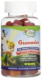 Disney- Fairies with Calcium, 60 Gummies
