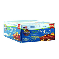 Garden of Life- FucoProtein, High Protein Thermogenic Bar, Chocolate with Macadamia Nuts, 12 bars, 1.94oz
