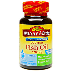 Nature Made- Fish Oil 1200mg Odorless, 60 Softgels